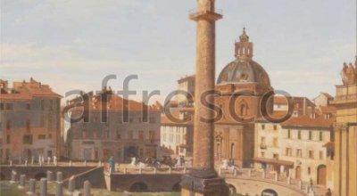Charles Lock Eastlake, A View of Trajans Forum Rome